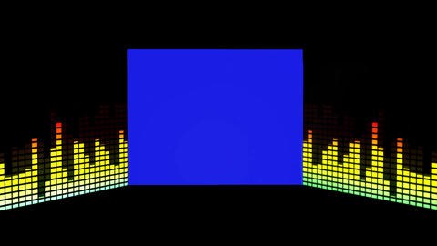 Music Background Graphic Equaliser Motion Blue Screen stock footage