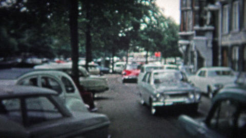 COPENHAGEN - 1966: The city alive with people and a modern 1960's look Footage
