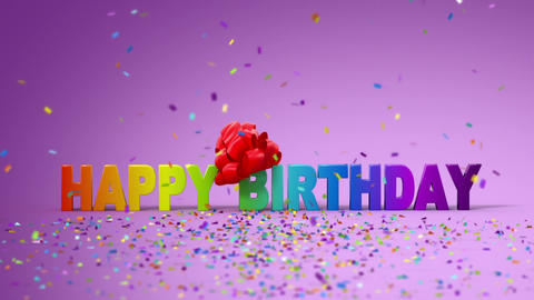 Happy Birthday, Funny 3d Animation stock footage
