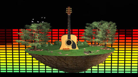Welcome on Flying Music island Live Environment Animation
