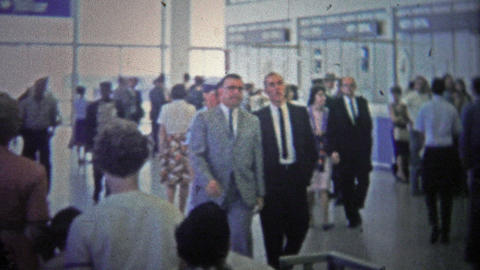 CHICAGO - 1966: The Inside Of Early O'hare Airport As It Became A Popular Flight stock footage