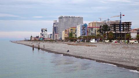Seaside promenade in Batumi, Georgia Live Action