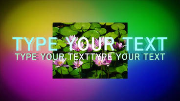 Simple 3D Motion TEXT stock footage