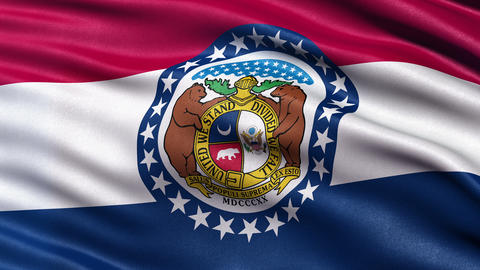 4K Missouri state flag seamless loop Ultra-HD Animation