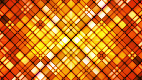 Broadcast Twinkling Cubic Diamonds, Orange Golden, Abstract, Loopable, HD Animation