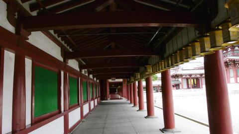 pov temple shitennoji osaka japan 02 Footage