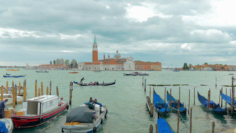 St.George the great island in Venice, Italy Footage