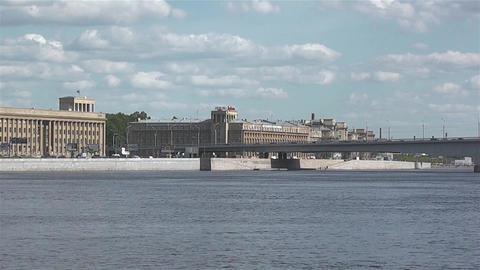 Movement On A City Bridge stock footage