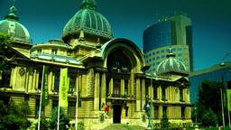 Bucharest, Romania July 2015,CEC Palace,Zoom In, Tilt Footage