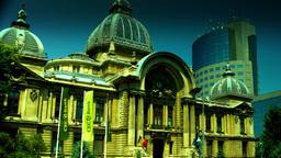 Bucharest, Romania July 2015,CEC Palace,Zoom Out, Tilt Footage