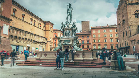 The statue of the god Neptune, Bologna Footage