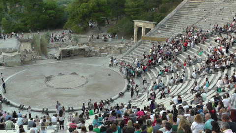 Epidavros - Epidaurus Ancient Theater stock footage