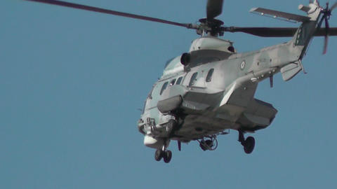 Army (military) And Fire Helicopter (2 Footage In One) stock footage