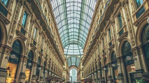 Milano Galleria Vittorio Emanuele II stock footage