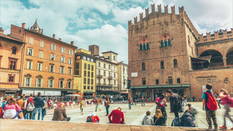 Basilica Of San Petronio In Bologna stock footage