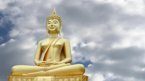 Buddha statue Footage