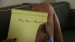 New Years Resolutions List Footage