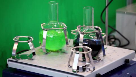 Shaker Equipment In Laboratory stock footage