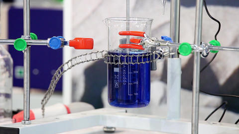 Shaker equipment in laboratory. Chemical experiment Footage