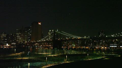 Brooklyn Bridge by night Footage