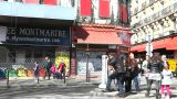 Montmartre Corner stock footage