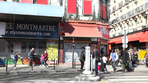 Montmartre Corner Stock Video Footage