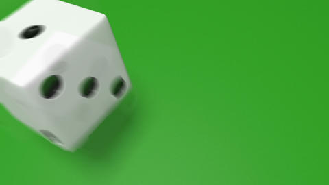 3D dice roll 01 Stock Video Footage