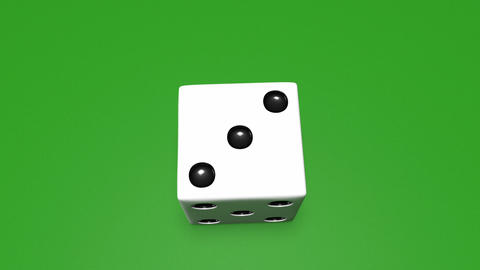 3D dice roll 01 Animation