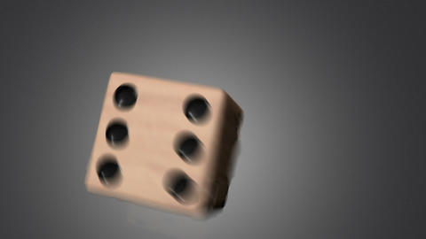 3D dice roll 04 Stock Video Footage