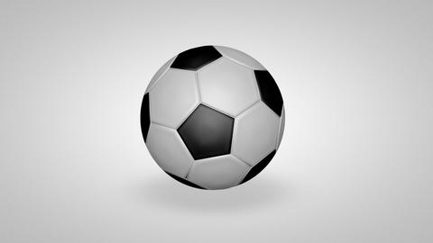 3D football bounce 01 Stock Video Footage