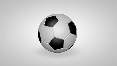 3D football bounce 01 Animation