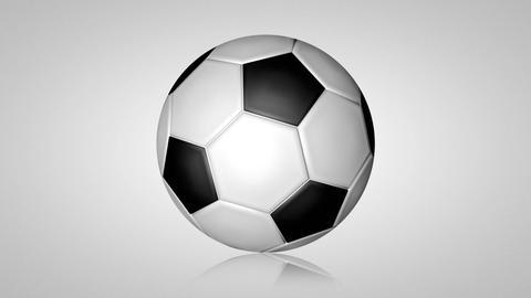 3D football turn around 01 Stock Video Footage