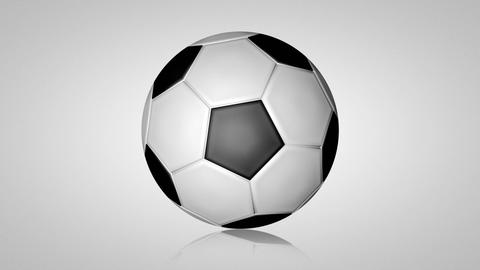 3D football turn around 01 Stock Video Footage