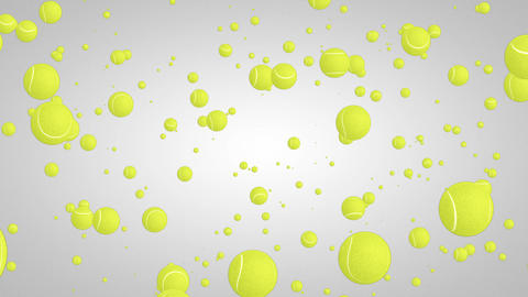 3D tennis ball particles 01 Stock Video Footage
