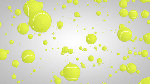 3D tennis ball particles 01 Animation