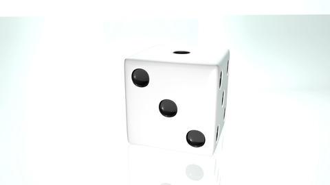 3D dice turn around 04 Stock Video Footage