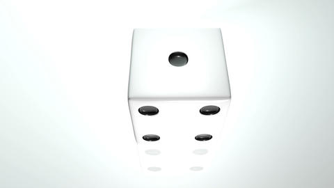 3D dice turn around 04 Animation