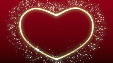 Sparkle heart background Animation