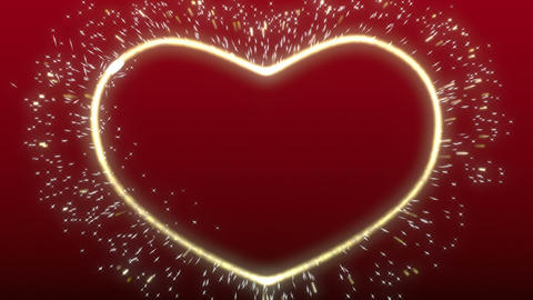Sparkle heart background Stock Video Footage