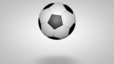 3D football bounce 02 Animation