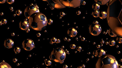 3D gold football particles 01 Stock Video Footage