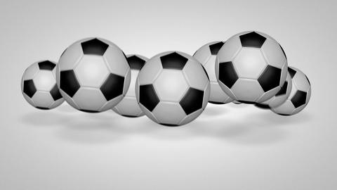 3D football bounce 05 Stock Video Footage