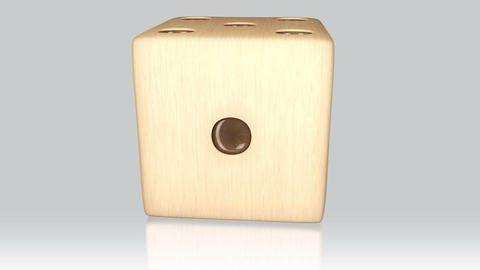 3D wood dice turn around 02 Stock Video Footage