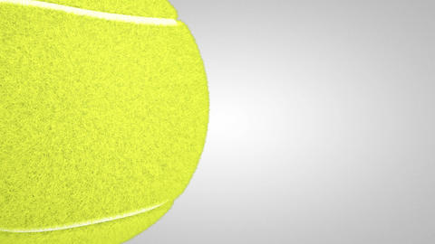 3D tennis ball turn around 02 Stock Video Footage