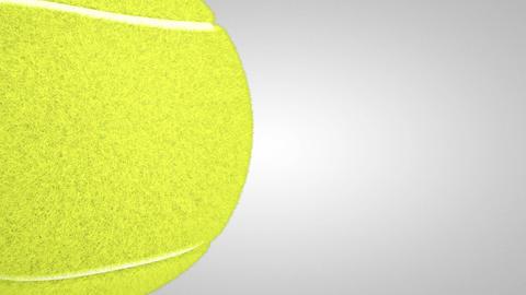 3D tennis ball turn around 02 Stock Video Footage