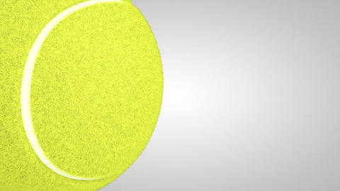 3D tennis ball turn around 02 Animation
