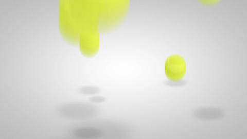 3D tennis ball bounce 05 Stock Video Footage