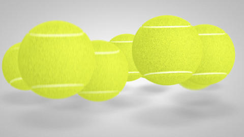 3D tennis ball bounce 05 Animation