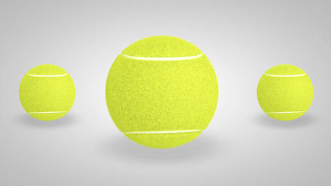 3D tennis ball bounce 03 Stock Video Footage