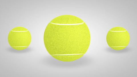 3D tennis ball bounce 03 Animation